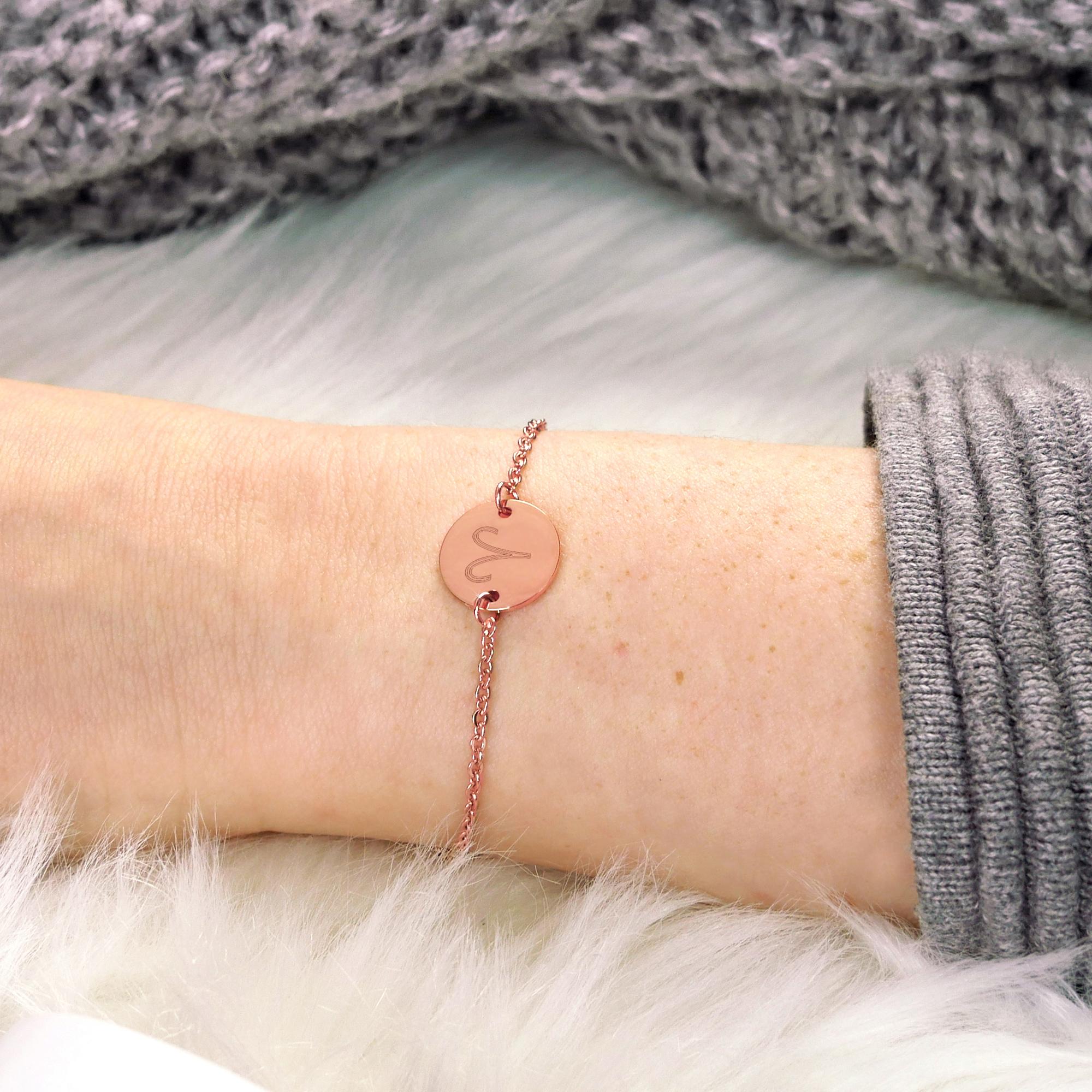 Armkettchen Kreis S - Rosé - Kurz - Sternzeichen - Standard