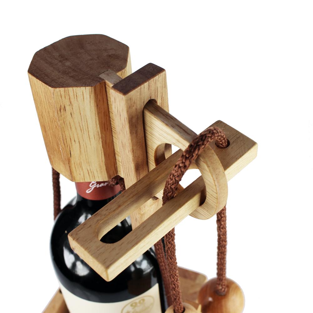 Edelholz Flaschenpuzzle aus hellem Holz