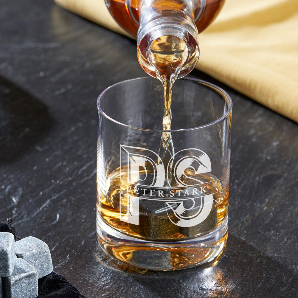 Whiskyglas mit Gravur initial - Personalisiert