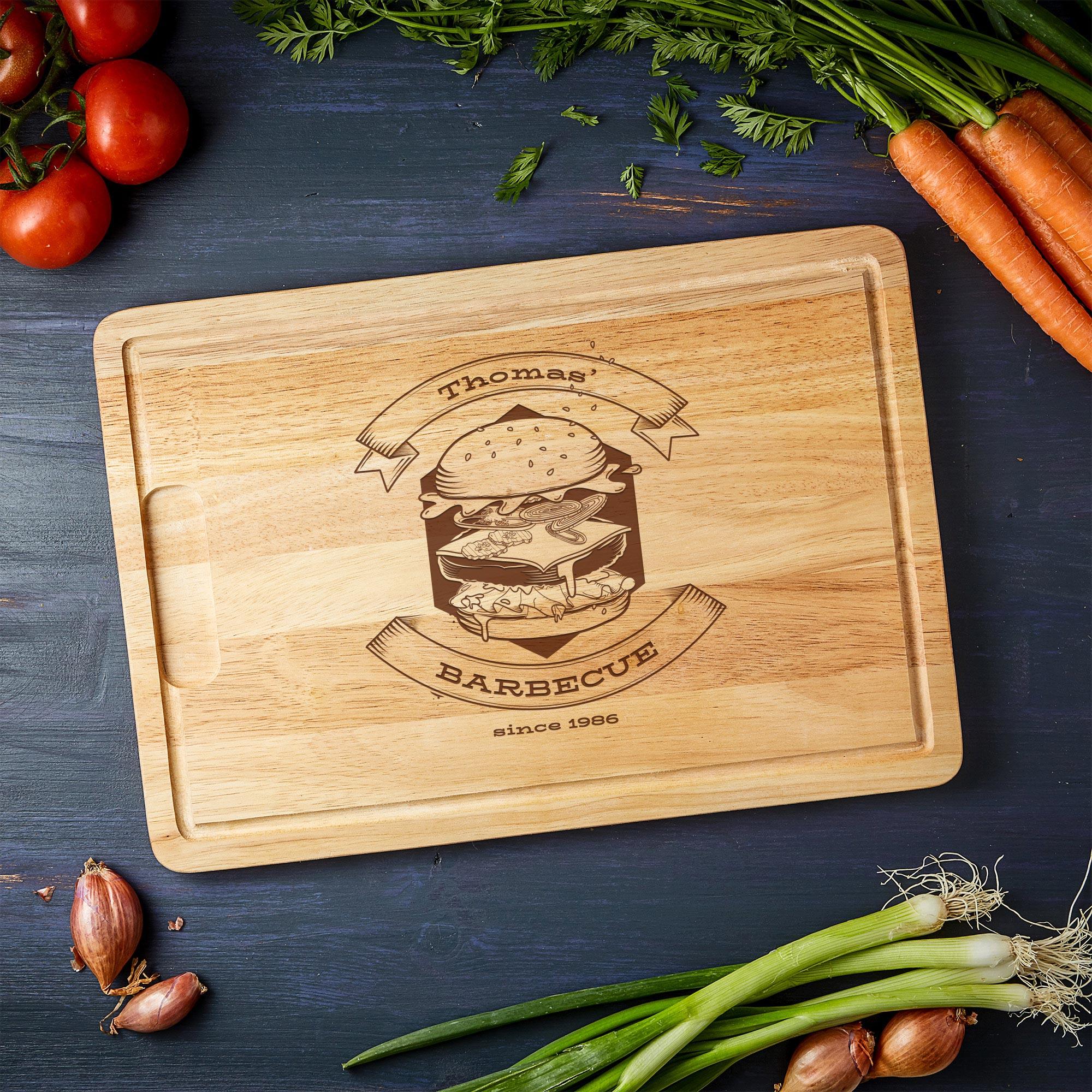 Schneidebrett - Grillmotiv Barbecue - Personalisiert