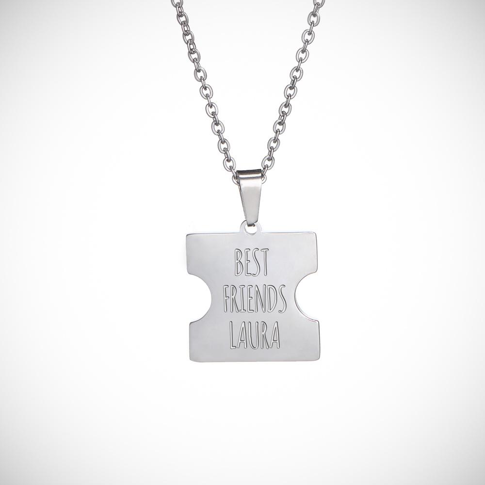 Freundschaftskette mit Gravur - Herz Puzzle - Best Friends - Personalisiert