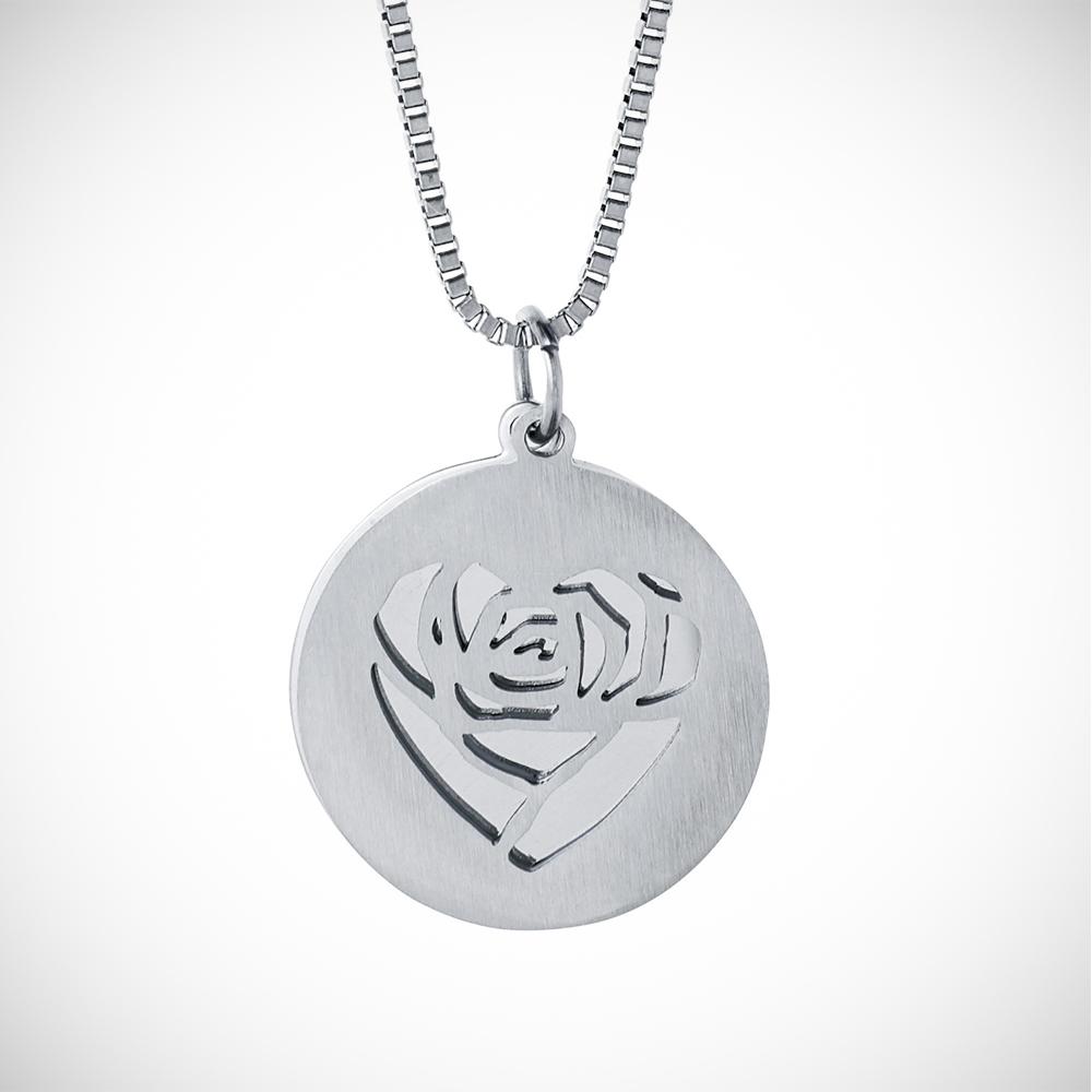 Halskette mit Gravur - Herz und Namen - Silber - Personalisiert