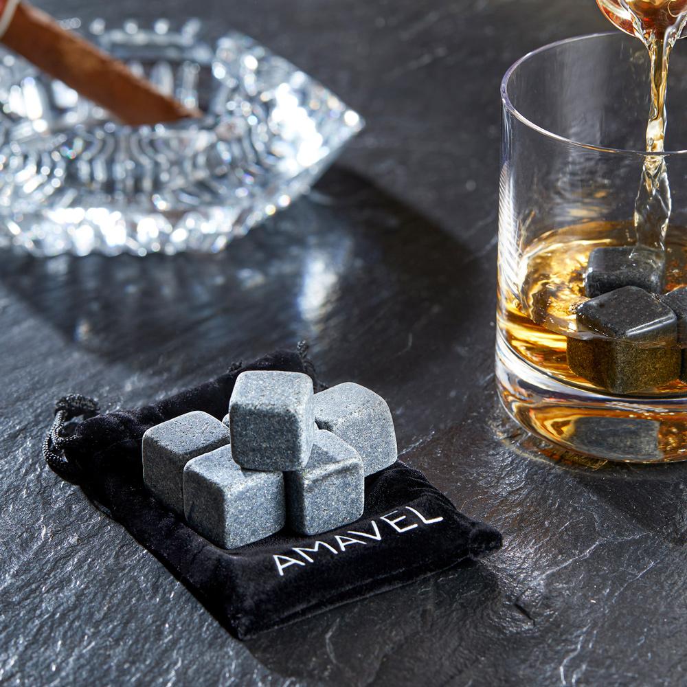 Whiskyset - Whiskysteine und Whiskyglas mit Gravur Elegant