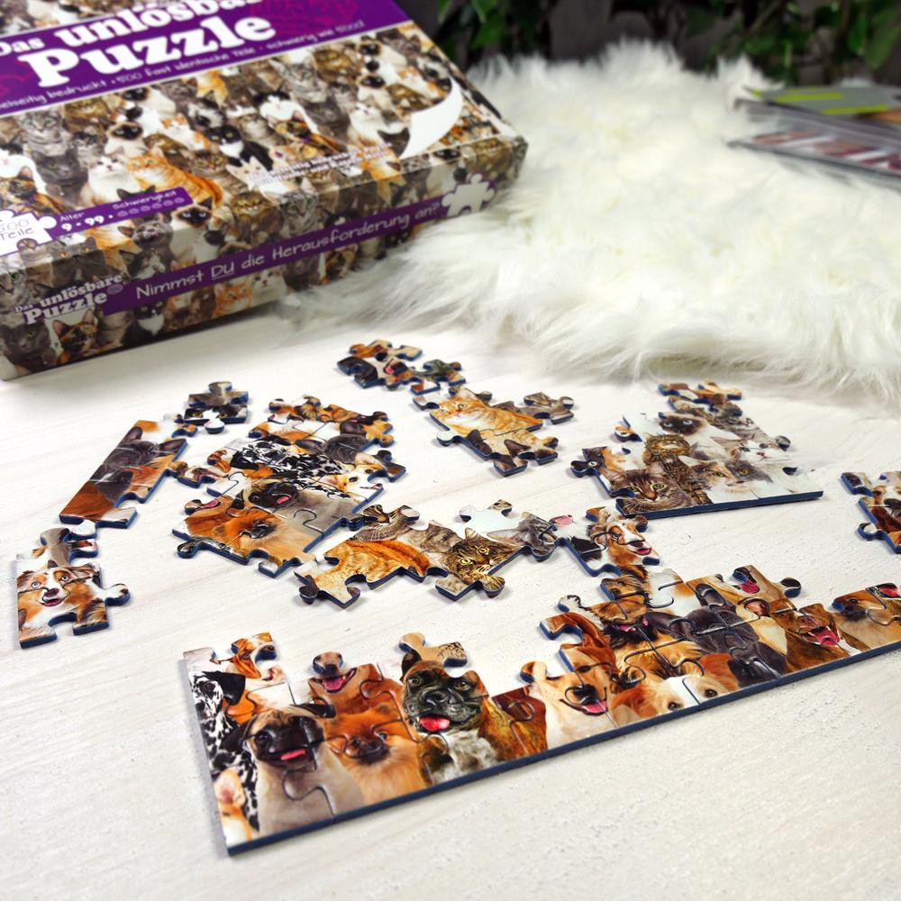 Das Unmögliche Puzzle - Unlösbares Puzzle - Katzen und Hunde