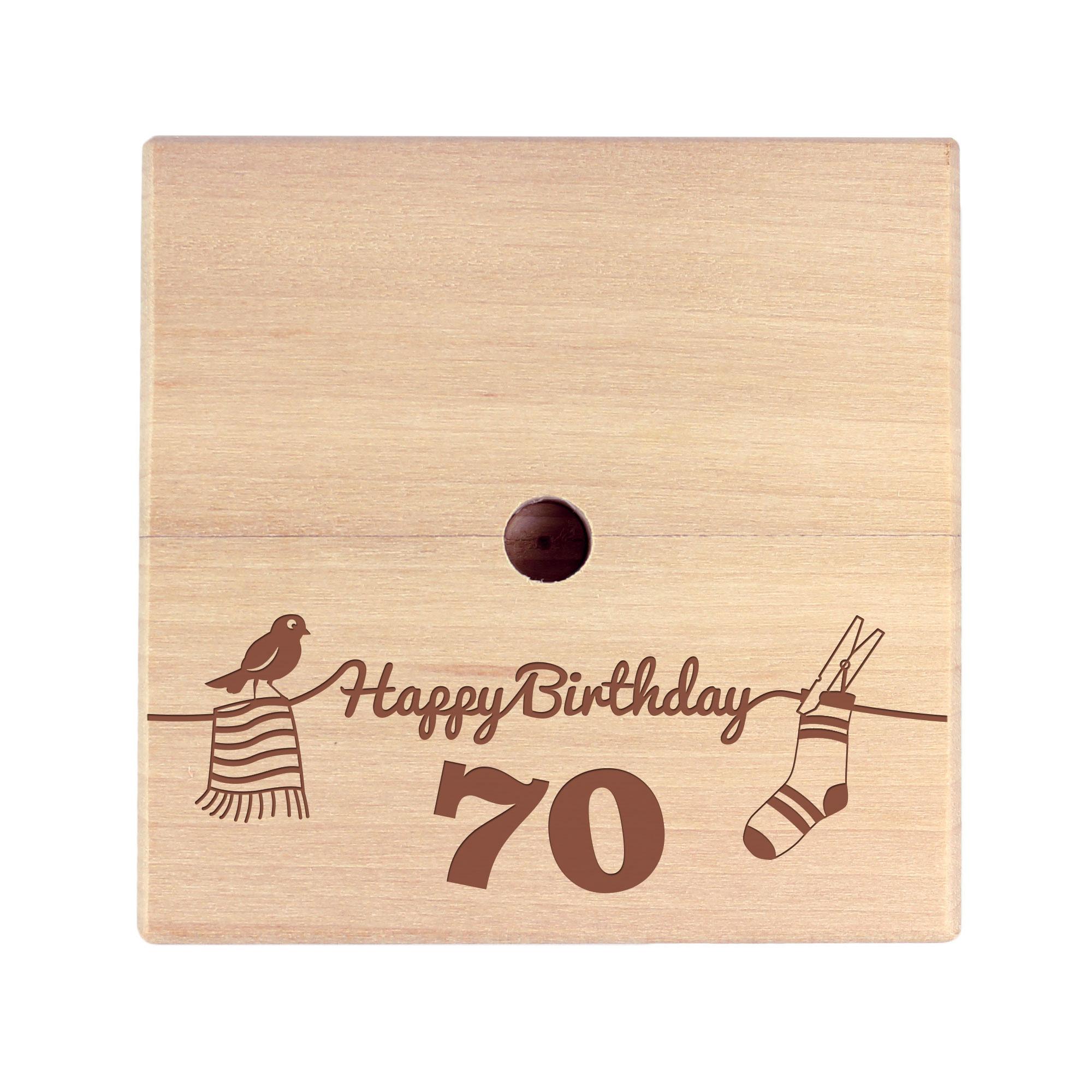 Geld Wäschespinne zum 70. Geburtstag
