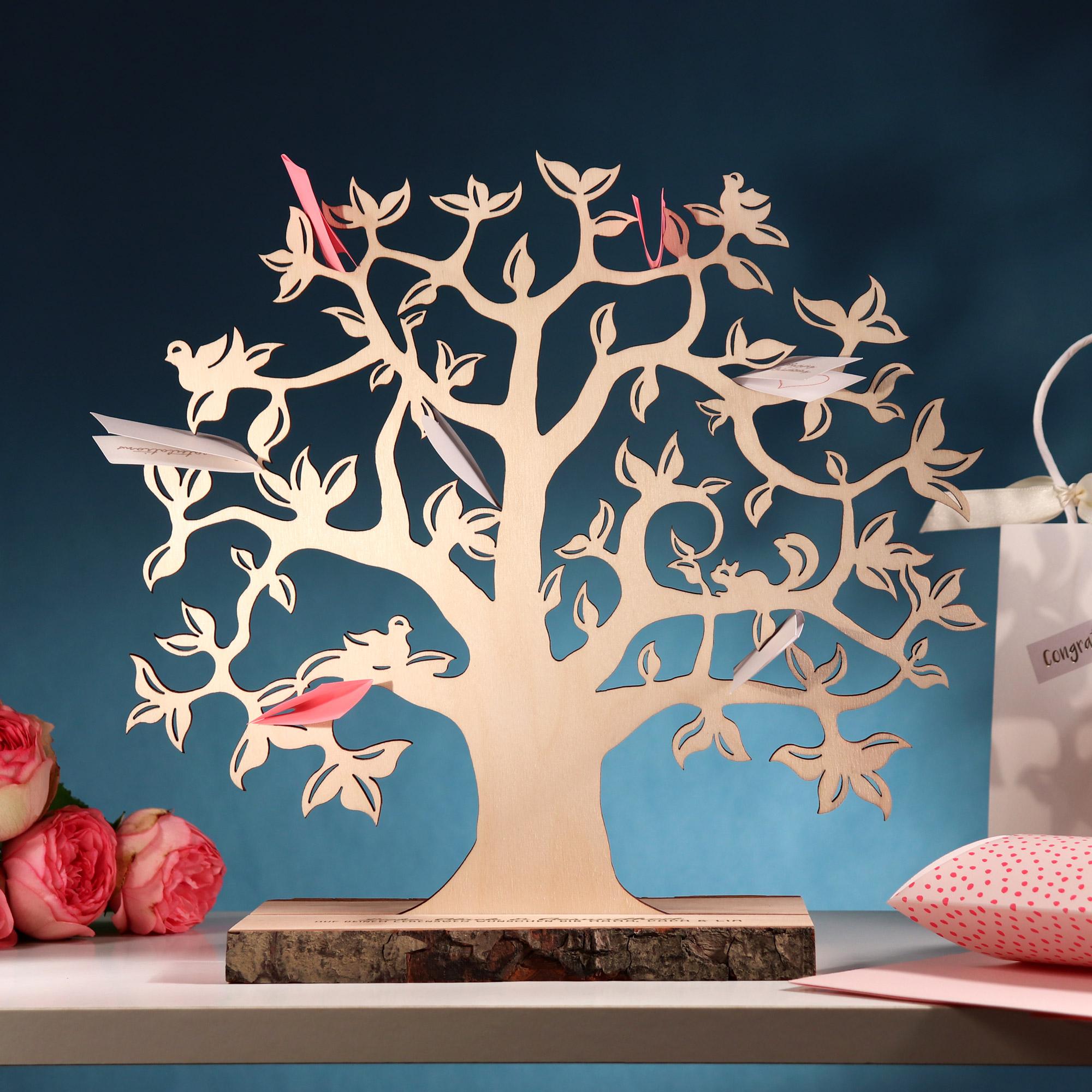 Geldbaum mit Gravur zur Geburt - Personalisiert - Klein