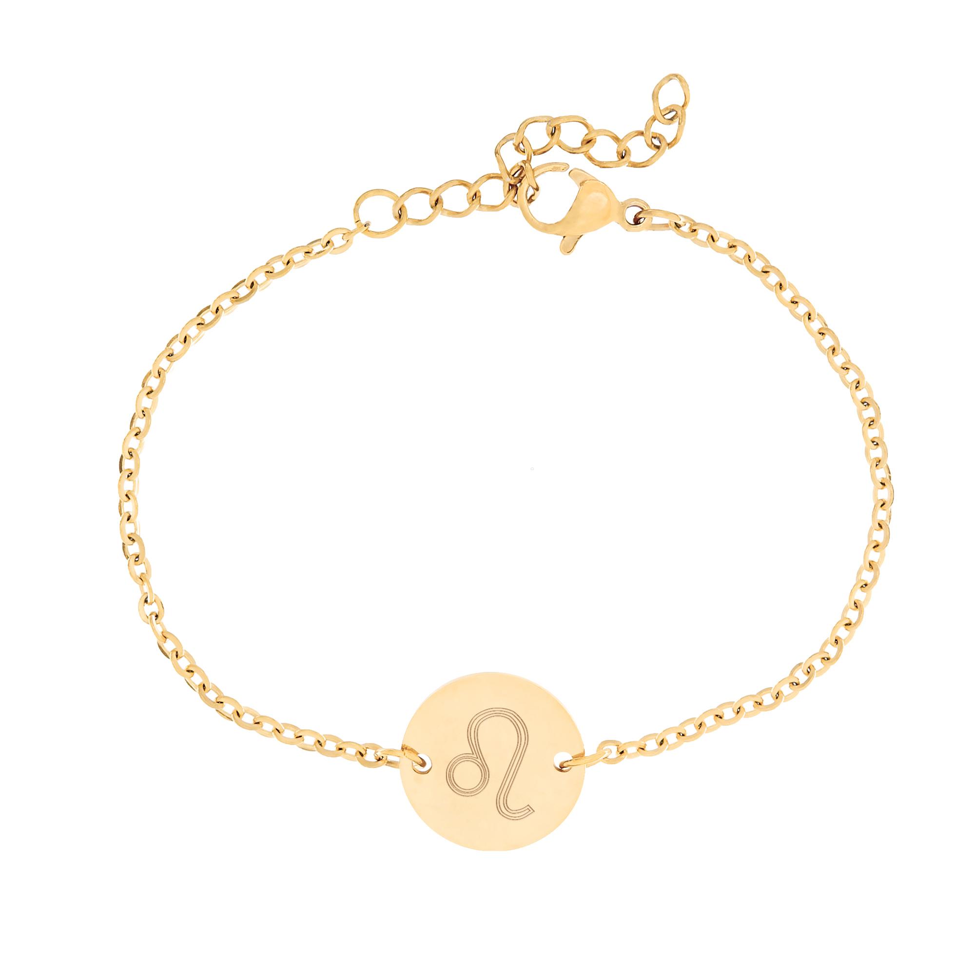 Armkettchen mit Gravur - Sternzeichen - Gold - Kurz - Personalisiert
