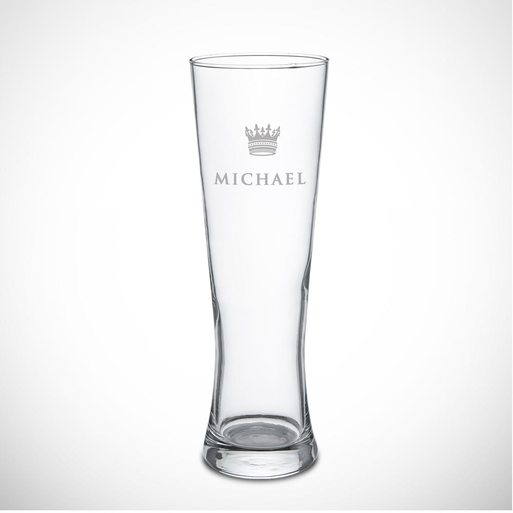 Weizenglas mit Gravur Große Krone Weizenbierglas