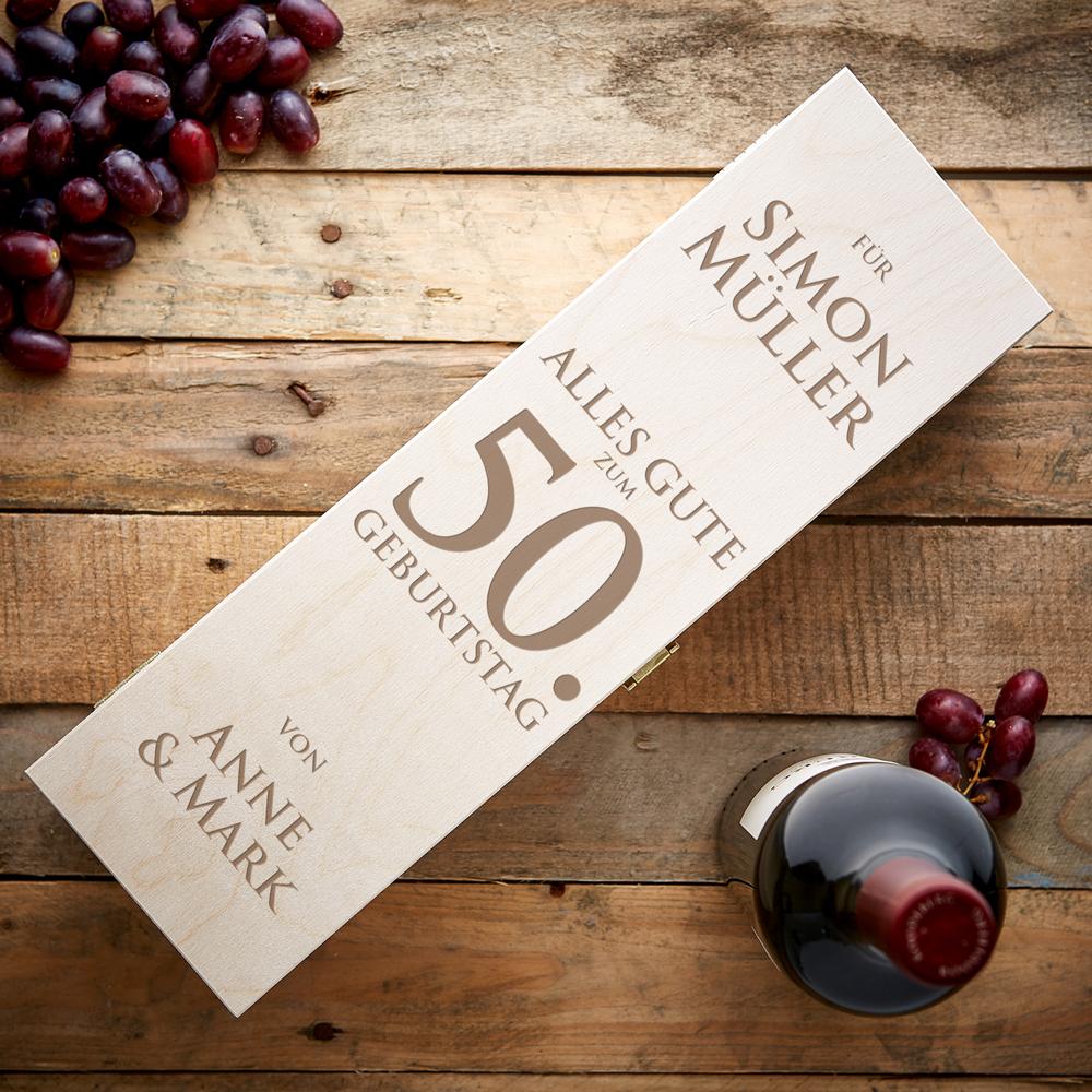 Weinkiste zum Geburtstag - Personalisiert