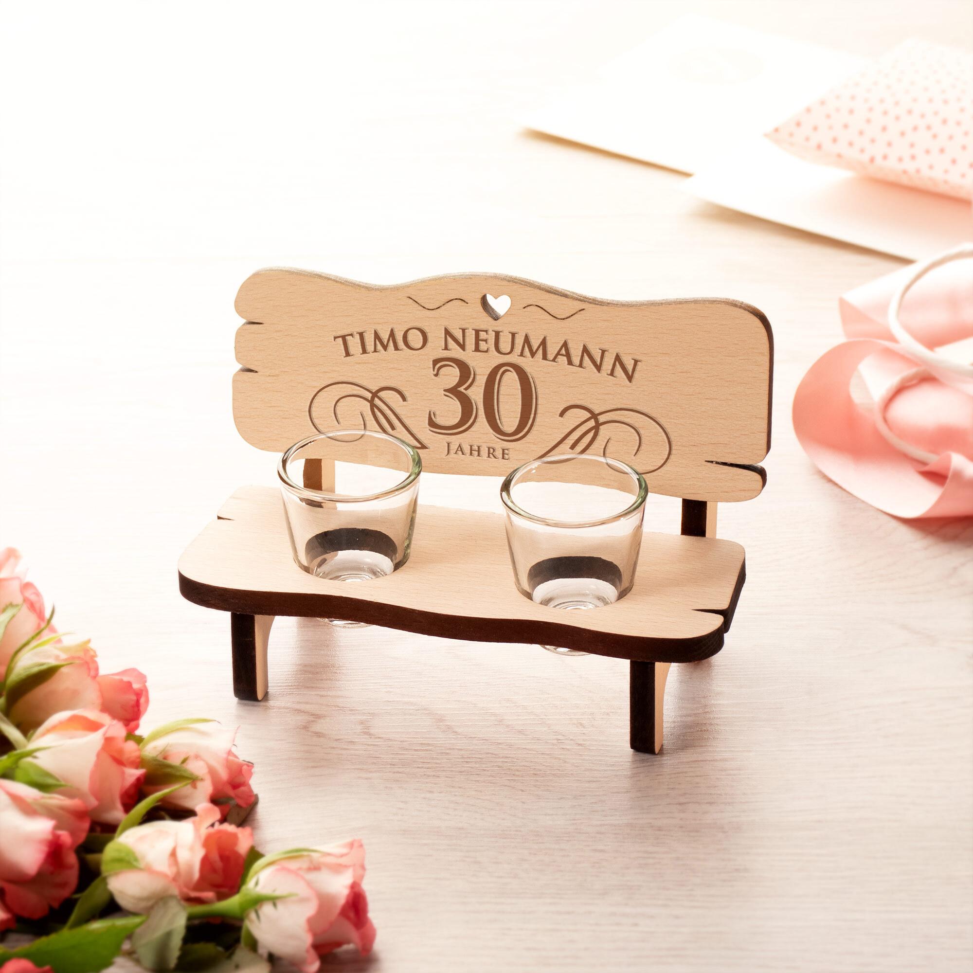 Schnapsbank zum runden Geburtstag - Personalisiert