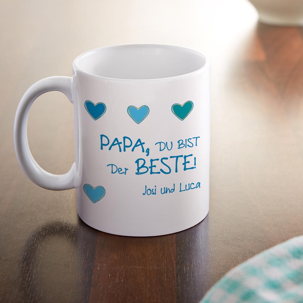 Bedruckte Tasse - Fototasse - Der beste Papa - Personalisiert