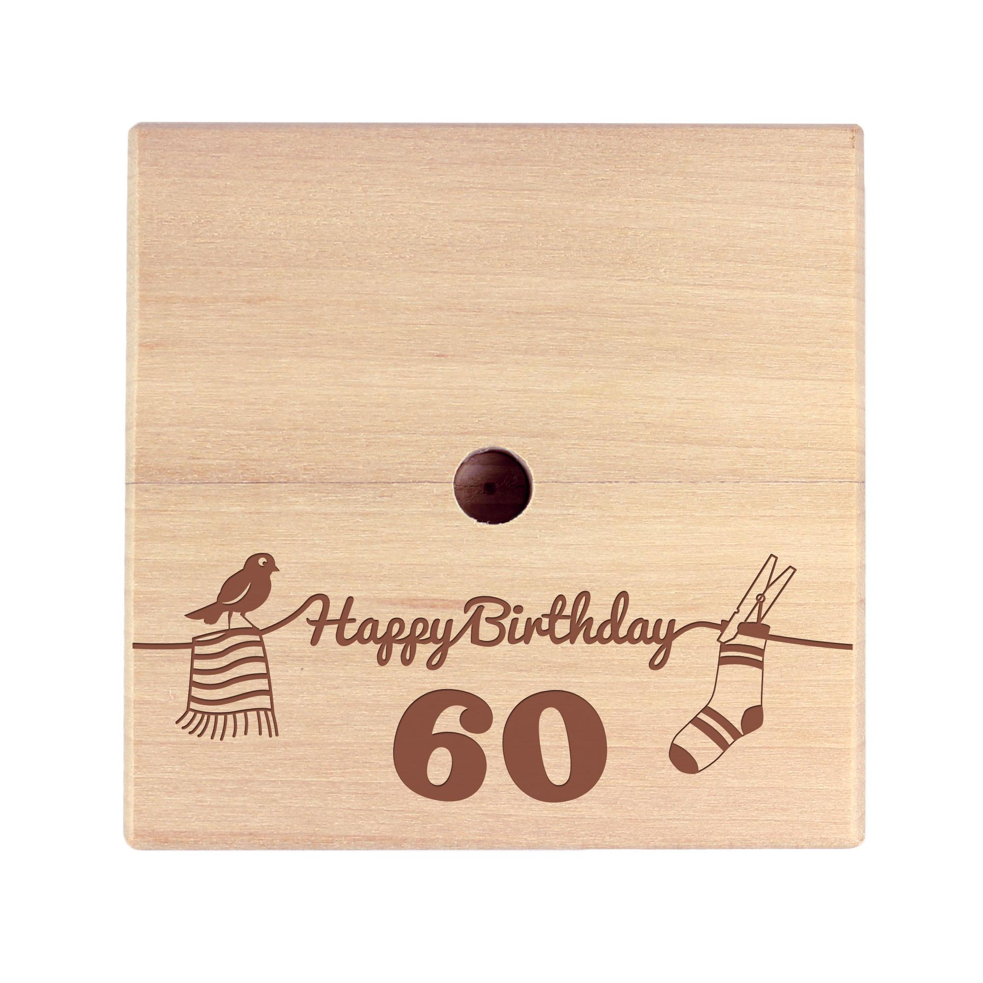 Geld Wäschespinne zum 60. Geburtstag