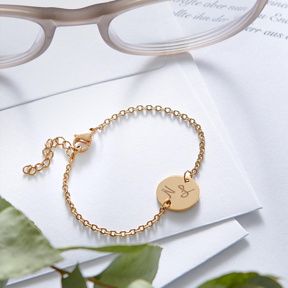 Armkettchen mit Gravur - Initialen - Gold - Personalisiert