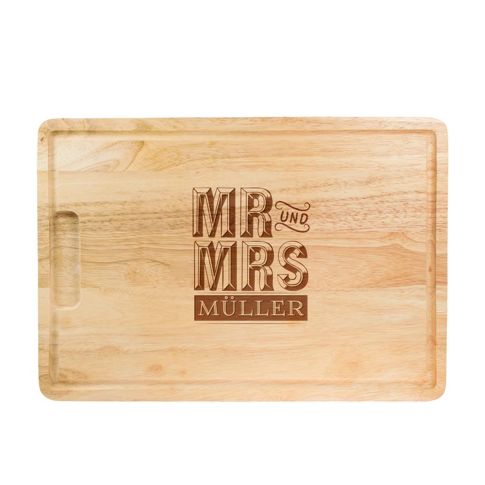 Mr und Mrs Schneidebrett - Personalisiert