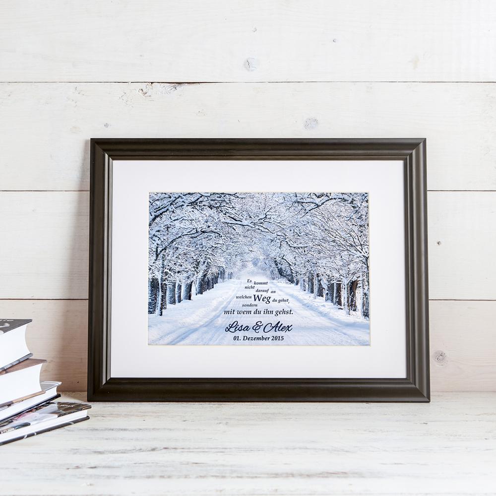 Gemeinsamer Weg - Winterbild - Ihre Namen im Bild