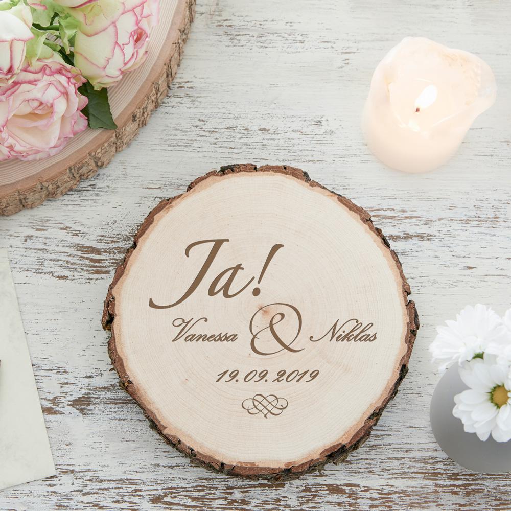 Baumscheibe zur Hochzeit