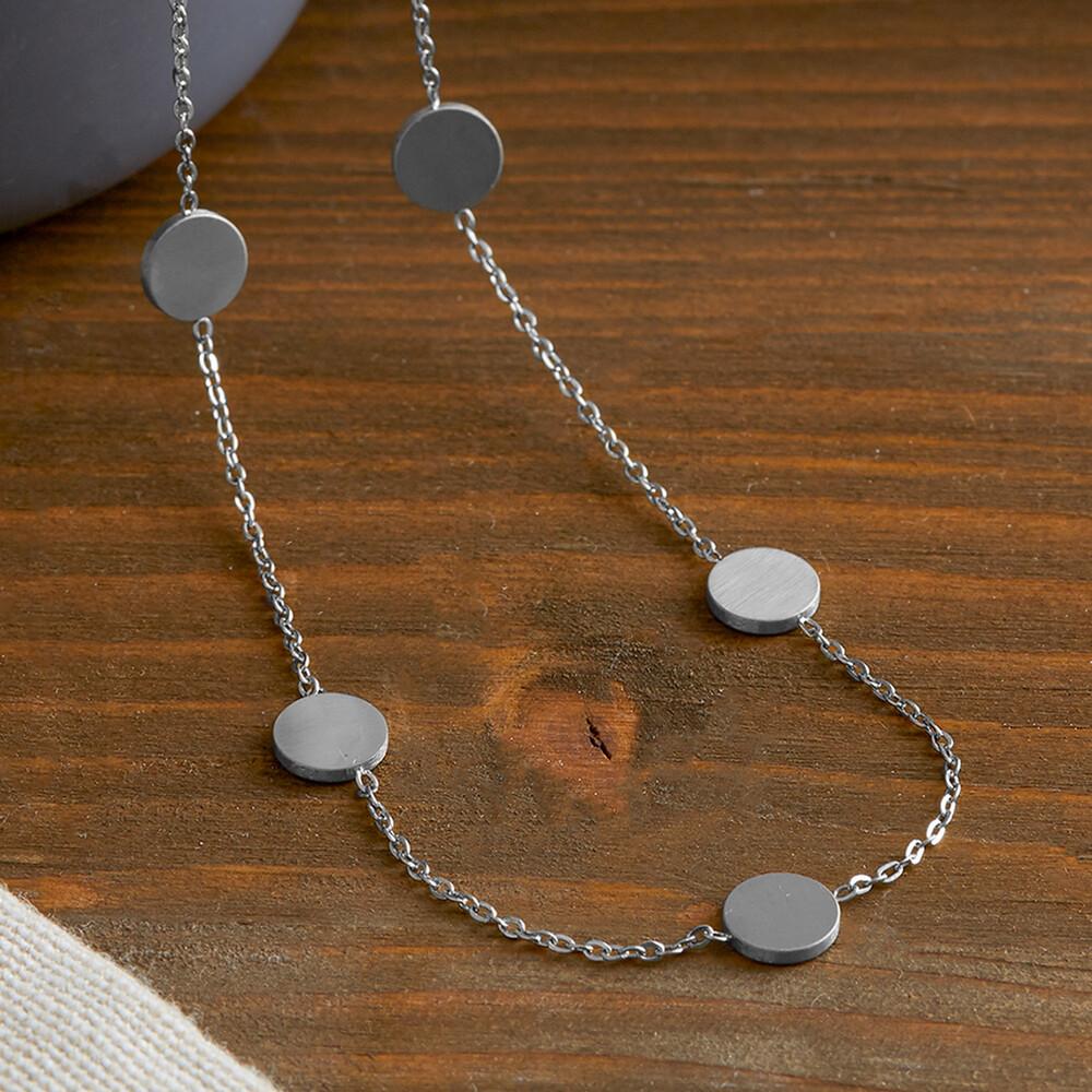 Layering Kette mit kleinen Anhängern - Silber