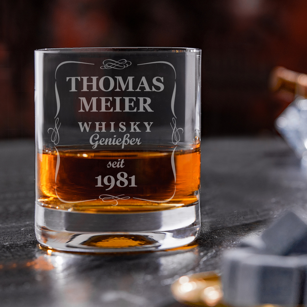 Whiskyglas mit Gravur Klassisch - Personalisiert