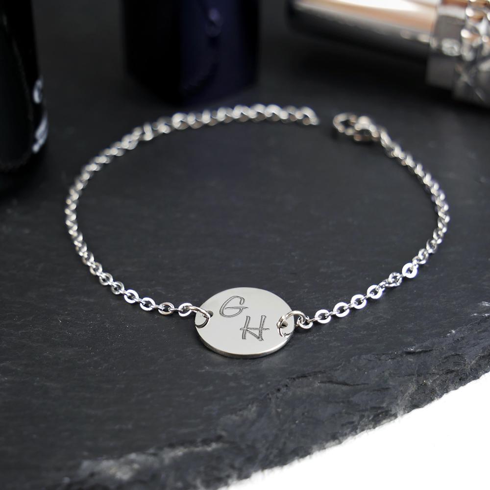 Armkettchen mit Gravur - Initialen - Silber - Personalisiert