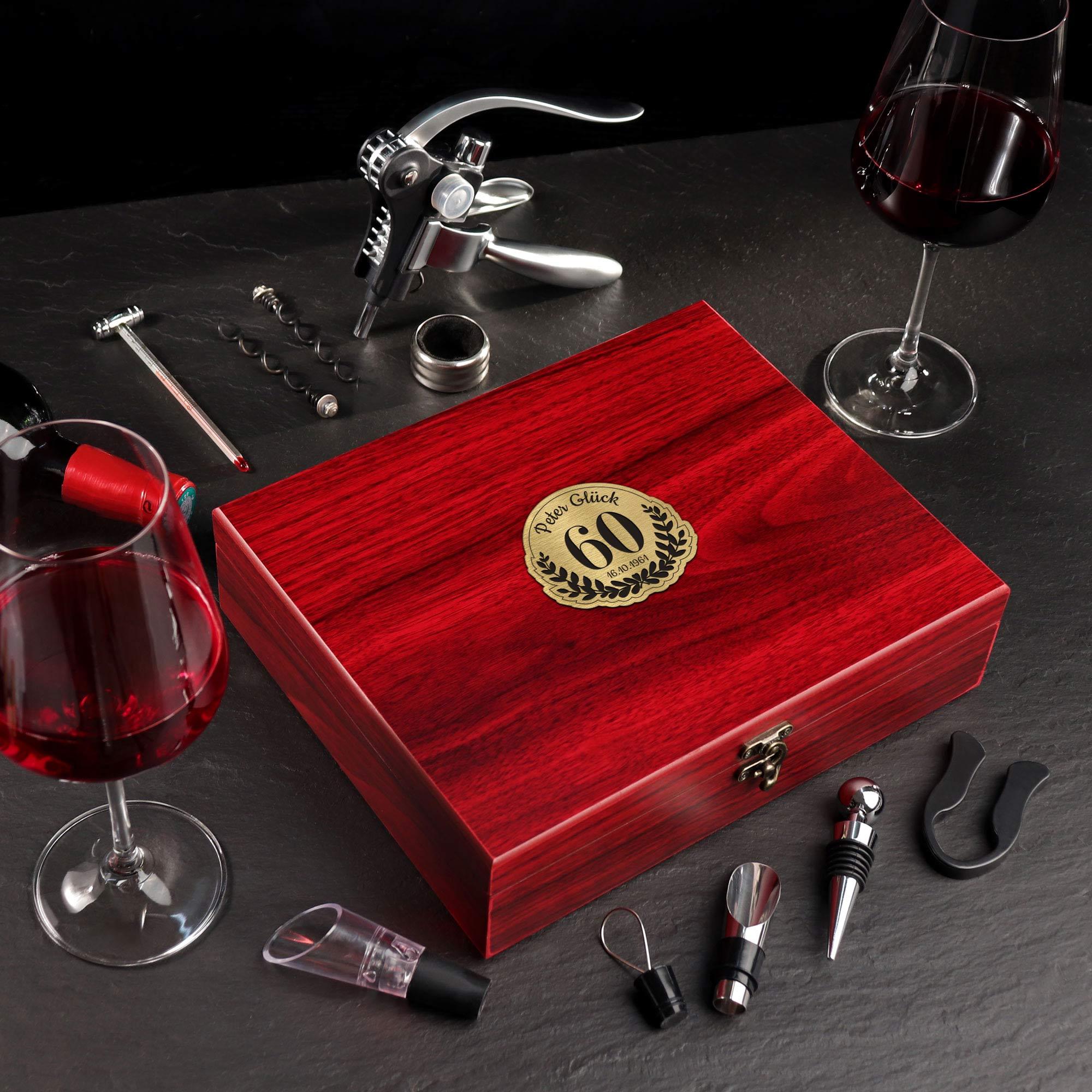 Wein Sommelier Set mit Gravur zum 60. Geburtstag