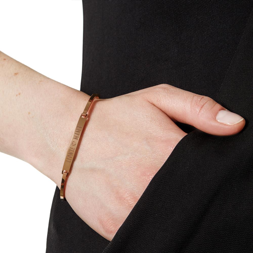Armreif mit Gravur für Mama - Roségold - Personalisiert
