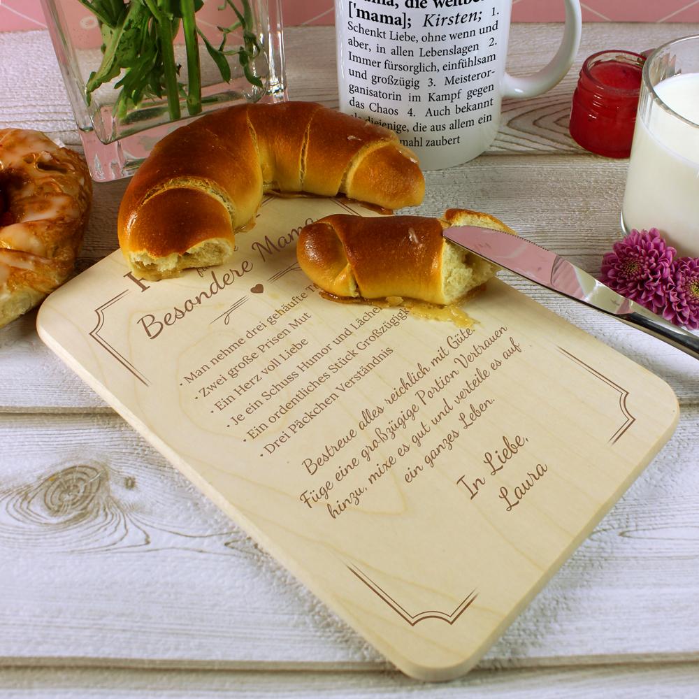 Frühstücksbrett für Mama - Rezept - Personalisiert