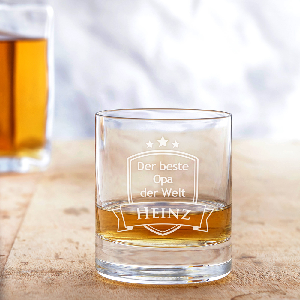 Whiskyglas mit Gravur - Bester Opa - Personalisiert