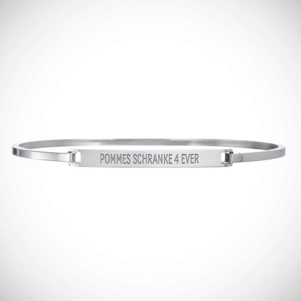 Armreif mit Gravur - Spruch - Silber - Personalisiert