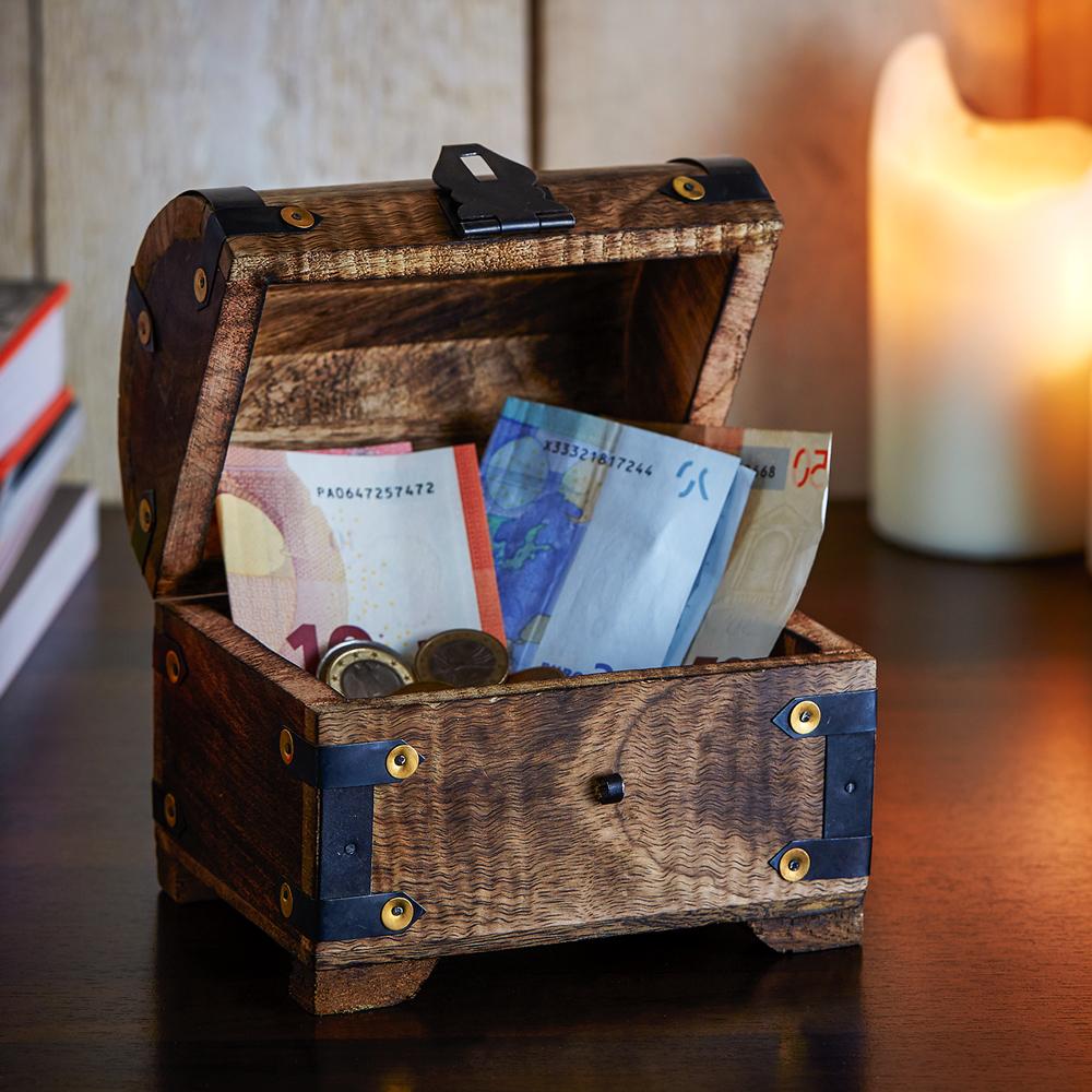 Geld Schatztruhe zur Hochzeit - Dunkel