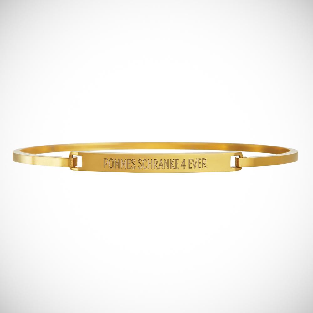 Armreif mit Gravur - Spruch - Gold - Personalisiert