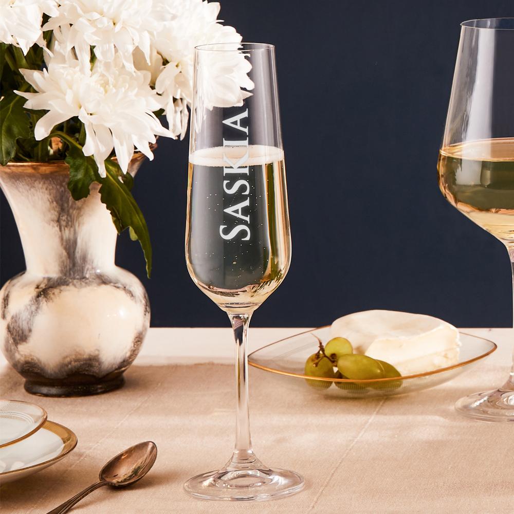 Sektglas mit persönlicher Gravur