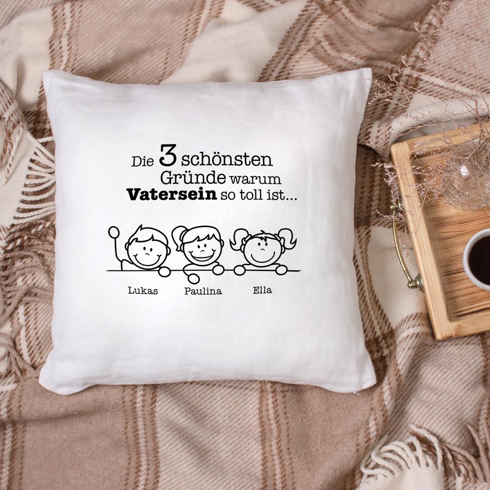 Bedrucktes Kissen - Warum ich es liebe Vater zu sein - Personalisiert