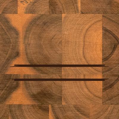 Schneideblock Akazie - Initial und Name - Personalisiert