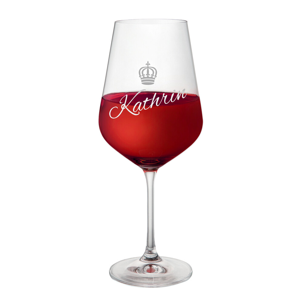 Weinglas mit Gravur Königin - Rotweinglas