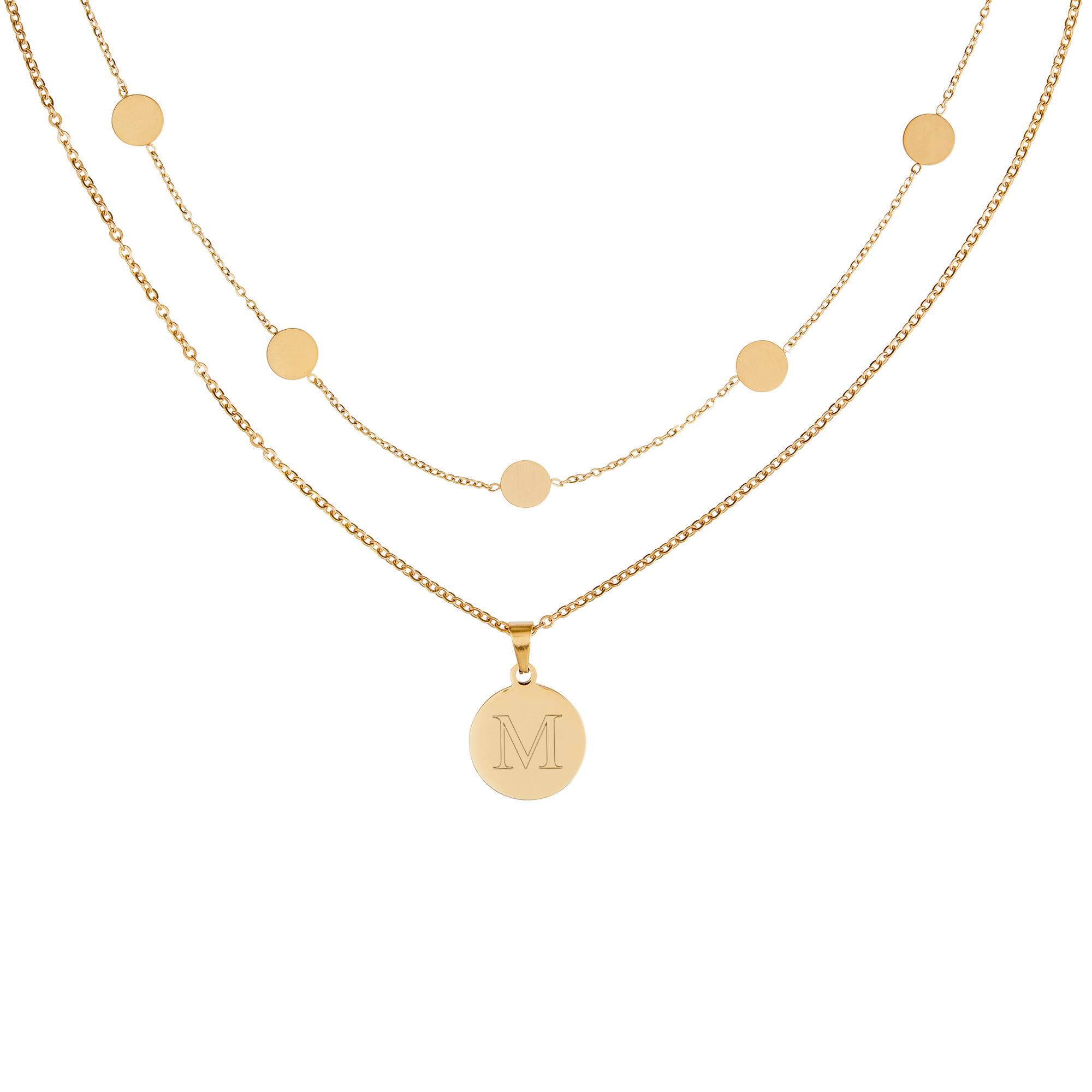 Bundle - Layering Kette - Kette Kreis S - Gold - Initial - Personalisiert
