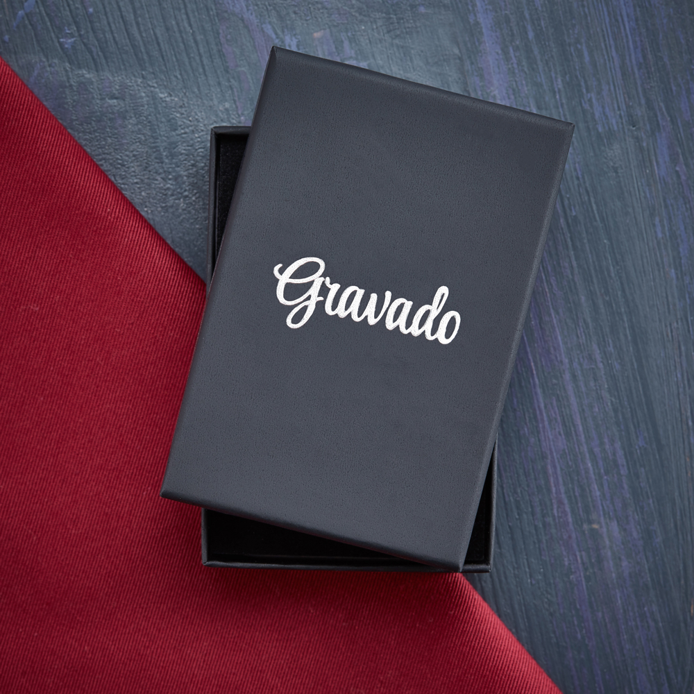 Halskette mit Gravur - Kreuz Anhänger - Farbe Gold - Personalisiert