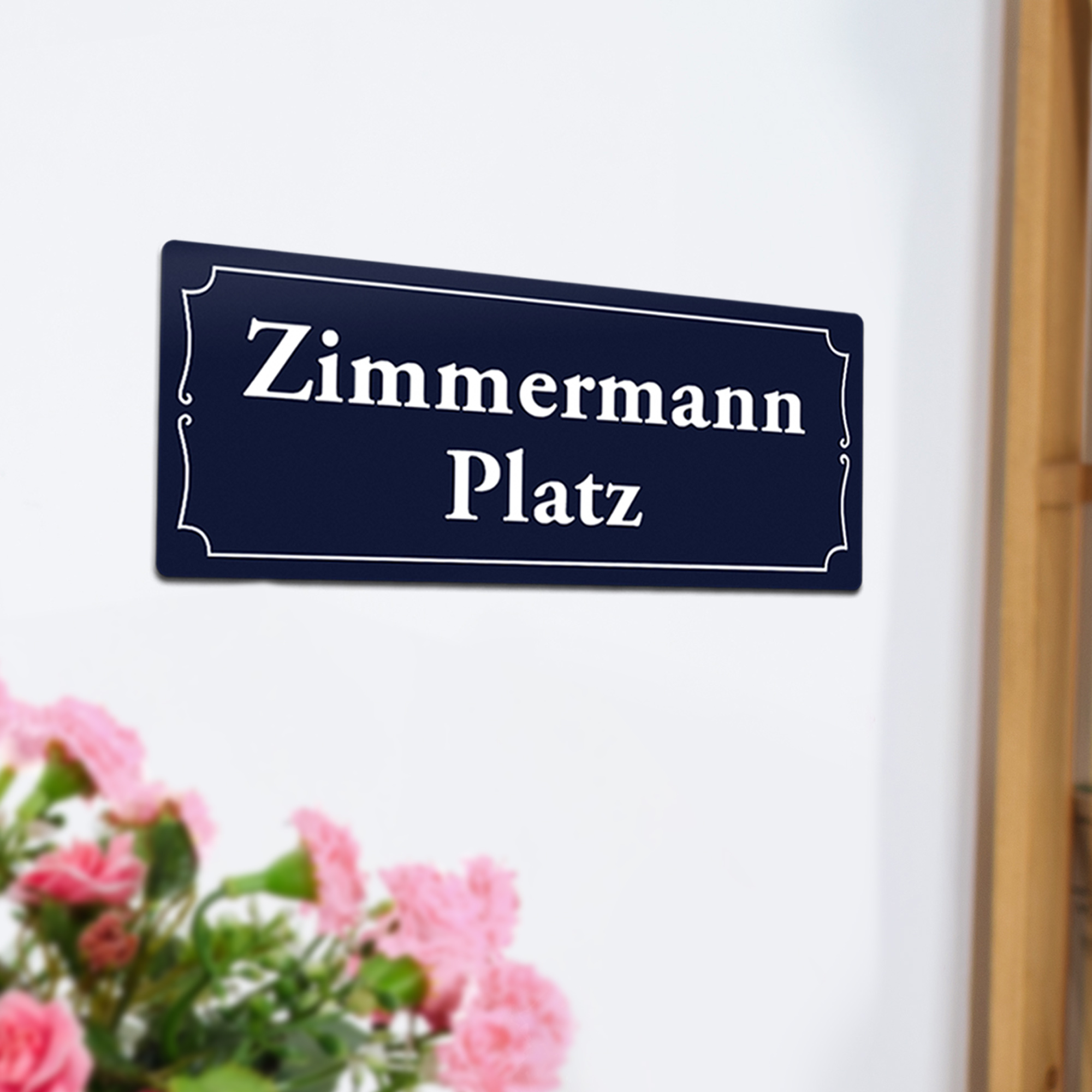 Personalisiertes Türschild mit Namen - Straßenschild