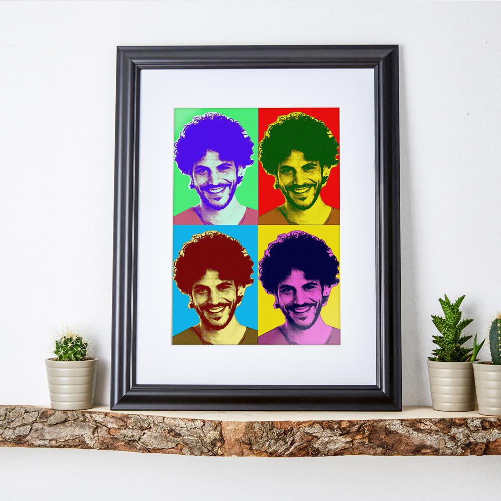 Personalisiertes Pop Art Poster mit Rahmen mit Ihrem Foto
