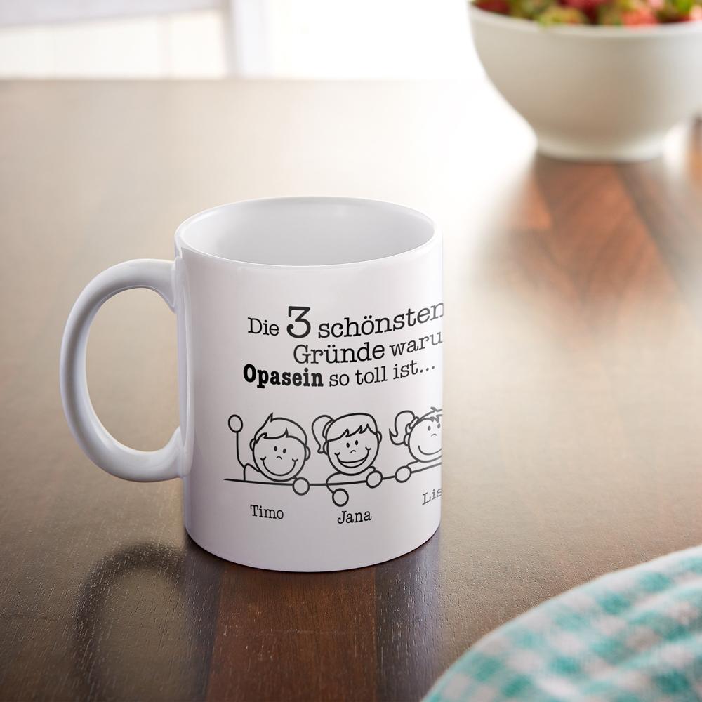 Bedruckte Tasse - Warum ich es liebe Opa zu sein - Personalisiert