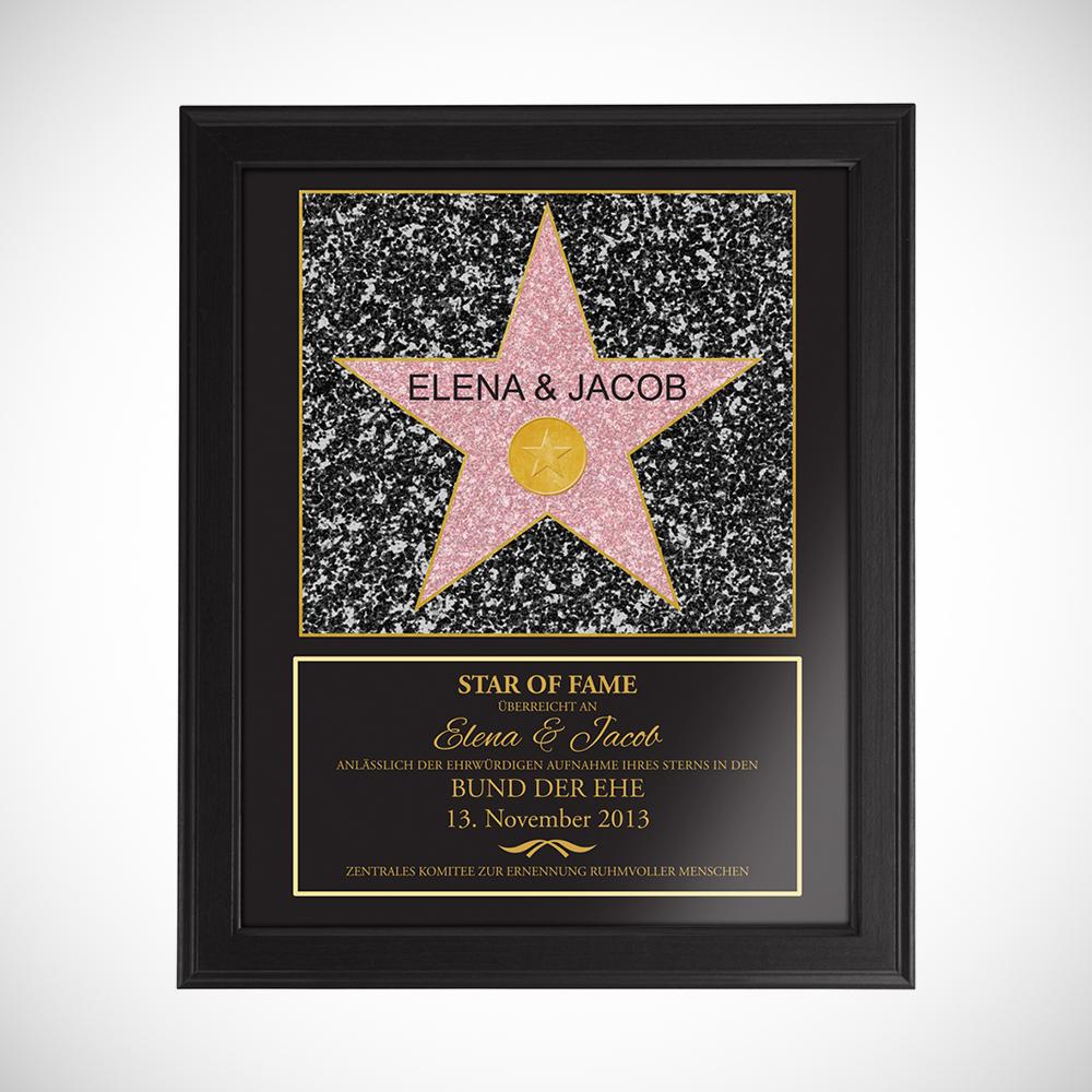 Star Of Fame zur Hochzeit - Personalisiertes Bild