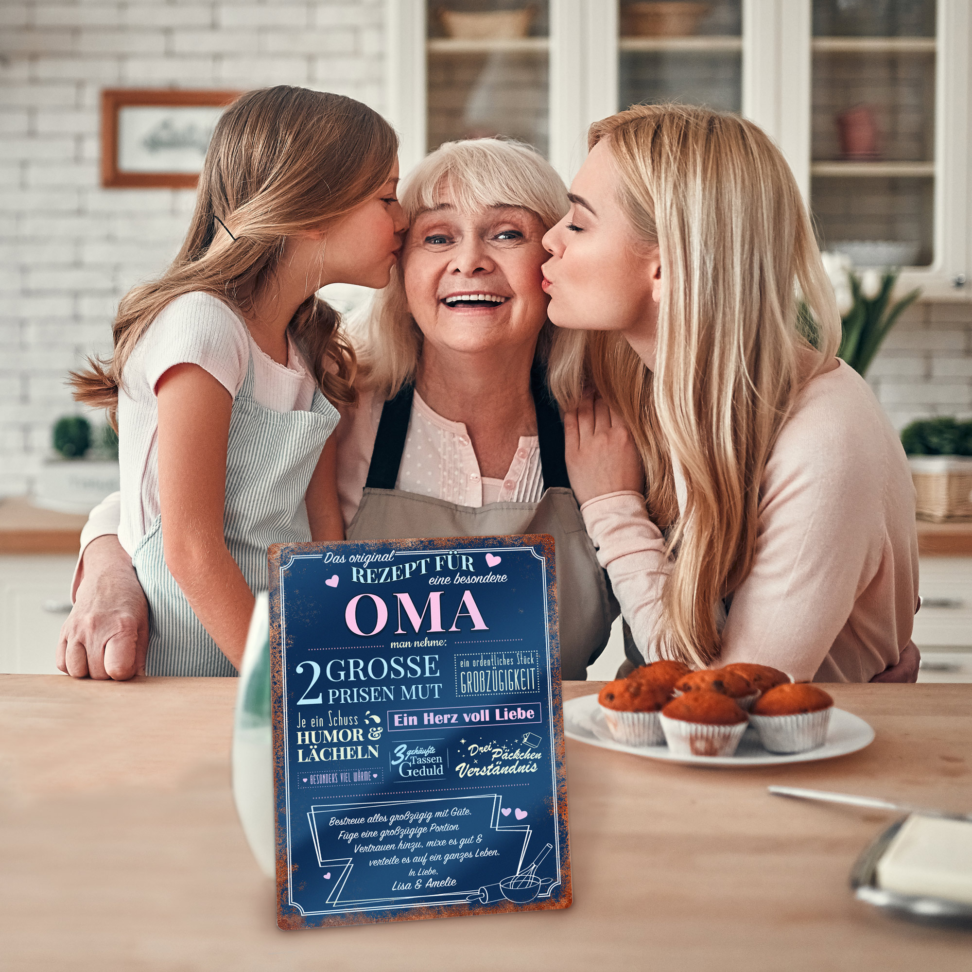 Personalisiertes Wandschild - Rezept Oma