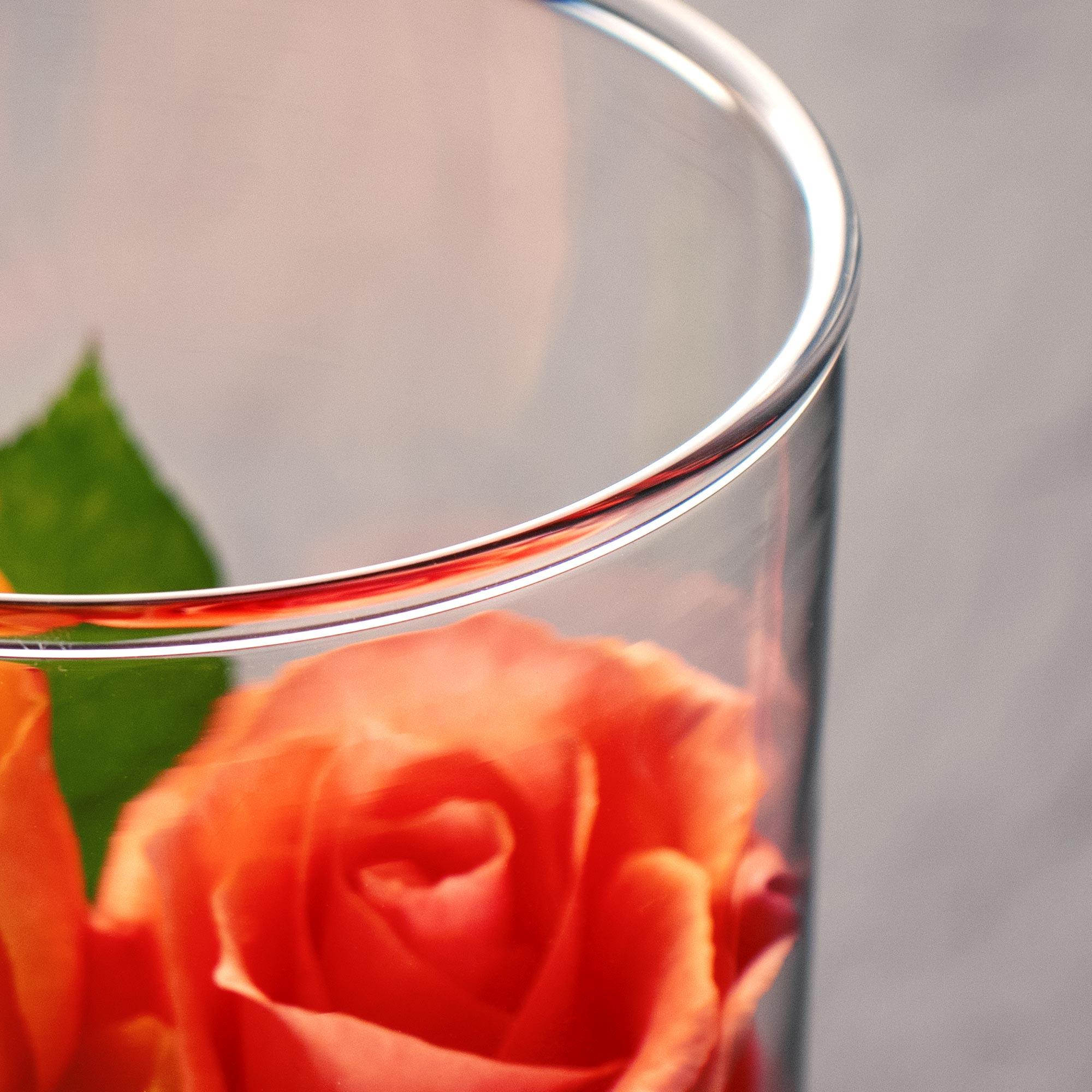 Runde Vase mit Gravur zur Hochzeit - Ringe