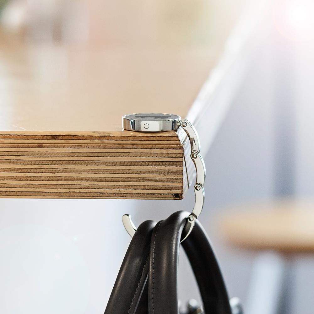 Handtaschenhalter mit Gravur - Edelstahl - Personalisiert